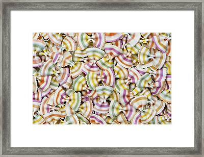 Colourful Pasta Pattern Framed Print by Tim Gainey