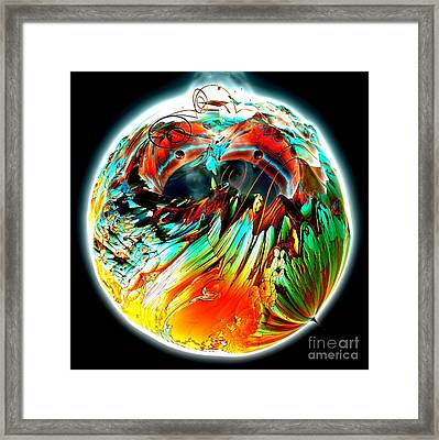 Colourful Planet Framed Print by Bernard MICHEL