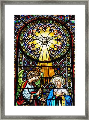 Colourful Stained Glass Windows Framed Print