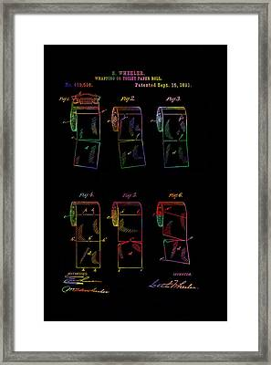 Colourful Toilet Paper Patent From 1891 Framed Print by Eti Reid