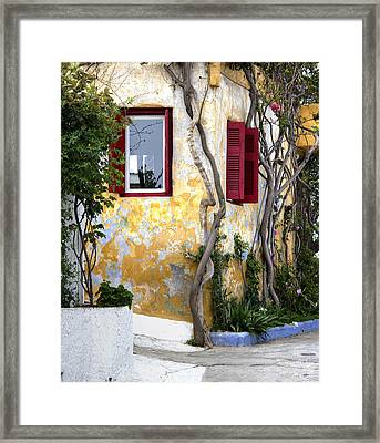 Colourfull Cottage Framed Print by Radoslav Nedelchev