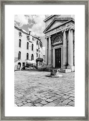 Colourless Venice Framed Print