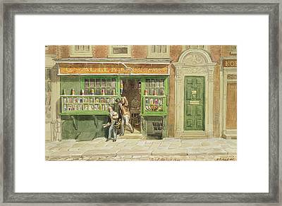 Colourmans Shop, St Martins Lane, 1829 Wc On Paper Framed Print by George the Elder Scharf