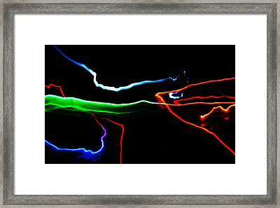 Framed Print featuring the digital art Colours At Midnight... by Al Fritz
