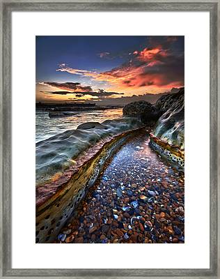Colours Of Dawn Framed Print by Mark Leader