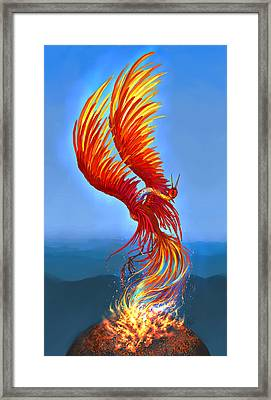 Colours Of Fire Framed Print