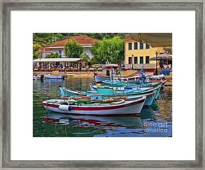 Colours Of Greece Framed Print