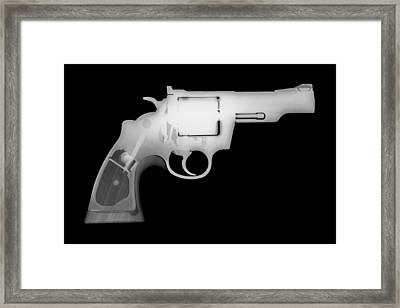 Colt 357 Magnum Reverse Framed Print by Ray Gunz