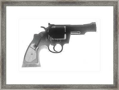 Colt 357 Magnum X Ray Photograph Framed Print by Ray Gunz