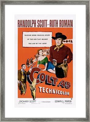 Colt .45, Us Poster, From Left Zachary Framed Print by Everett