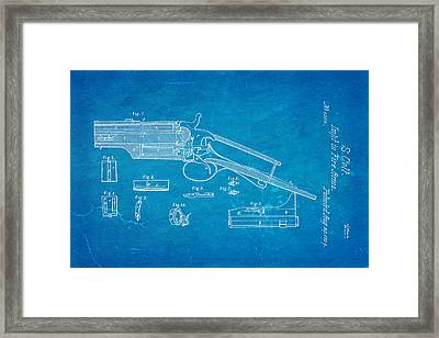 Colt Pistol Patent Art 1839 Blueprint Framed Print