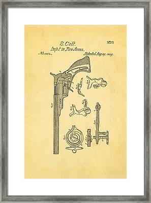 Colt Pistol Patent Art 2 1839 Framed Print by Ian Monk