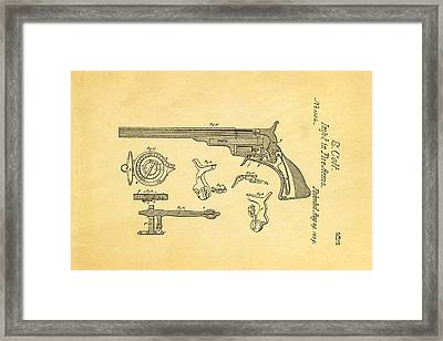 Colt Pistol Patent Art  3 1839  Framed Print by Ian Monk