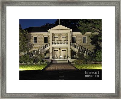 Colton Hall At Night Framed Print