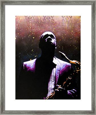 Coltrane II - Coltrane Harder Framed Print by Bobby Zeik