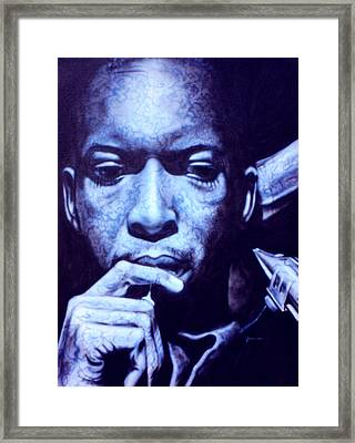 Coltrane Framed Print by Mike Underwood