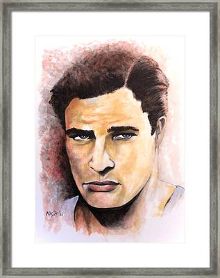 Coluda' Been A Contender - Brando Framed Print by William Walts