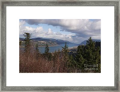 Framed Print featuring the photograph Columbia Gorge by Belinda Greb