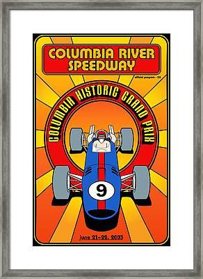 Columbia Historic Grand Prix Framed Print by Georgia Fowler
