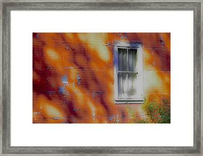 Columbia House Framed Print by Wes Jimerson