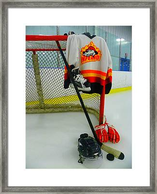 Columbia Inferno Away Jersey Framed Print