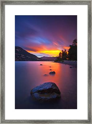 Columbia Morning Fire Framed Print by Darren  White