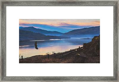 Columbia River Gorge Eagles Framed Print