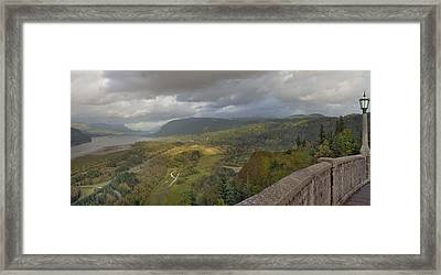 Framed Print featuring the photograph Columbia River Gorge View From Crown Point by JPLDesigns