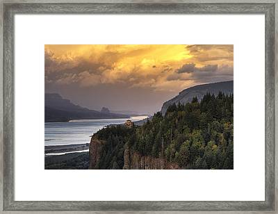 Columbia River Gorge Vista Framed Print by Mark Kiver