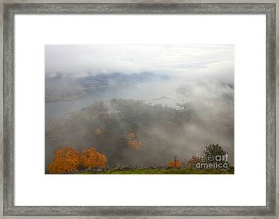 Columbia River Hidden Framed Print by Mike  Dawson