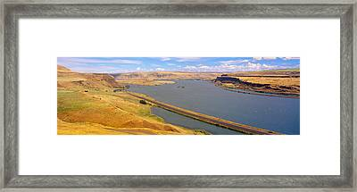 Columbia River In Oregon, Viewed Framed Print by Panoramic Images