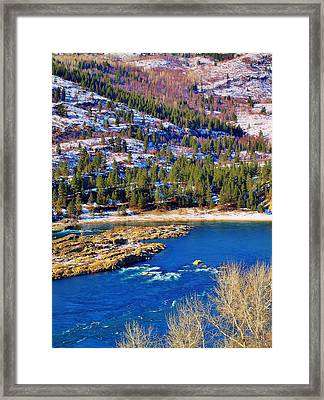 Columbia River Rapids Framed Print