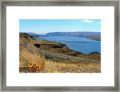 Columbia River Vantage Point Framed Print