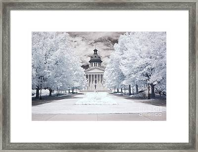 Columbia South Carolina Infrared Landscape  Framed Print by Kathy Fornal