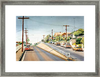Columbia Street Middletown Framed Print by Mary Helmreich