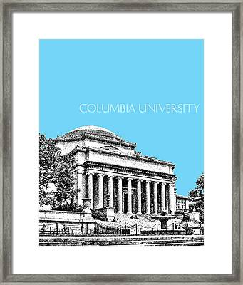 Columbia University - Sky Blue Framed Print by DB Artist