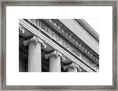 Columbia University Low Memorial Library Framed Print