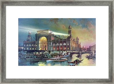 Columbian Expo, Electricity Building Framed Print by Science Source