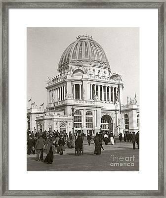 Framed Print featuring the photograph Columbian Exposition Chocolat 1893 by Martin Konopacki Restoration