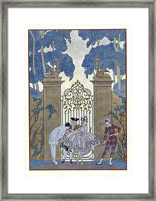 Columbine Framed Print by Georges Barbier