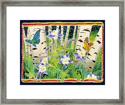 Columbine In The Aspen Framed Print by Harriet Peck Taylor