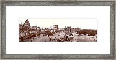 Columbus Circle New York 1907 Framed Print by Unknown