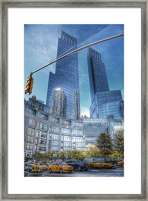 New York - Columbus Circle - Time Warner Center Framed Print by Marianna Mills