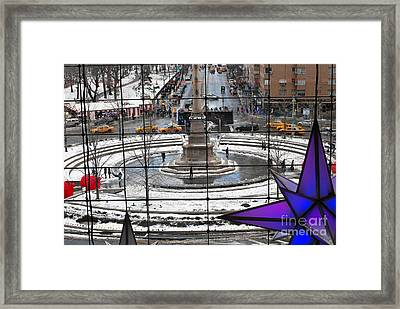 Columbus Circle View Framed Print by Andrea Simon