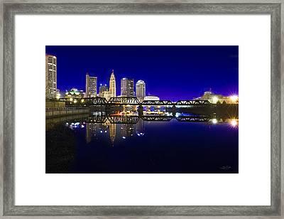Columbus - City Reflection Framed Print