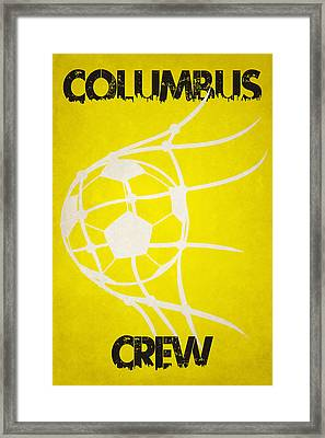Columbus Crew Goal Framed Print by Joe Hamilton