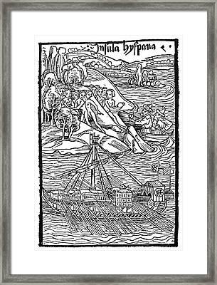 Columbus Hispaniola, 1492 Framed Print