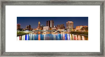 Columbus Ohio Pano  Framed Print