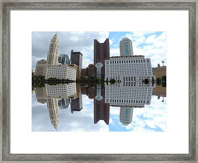 Columbus Reflection Framed Print by Cityscape Photography