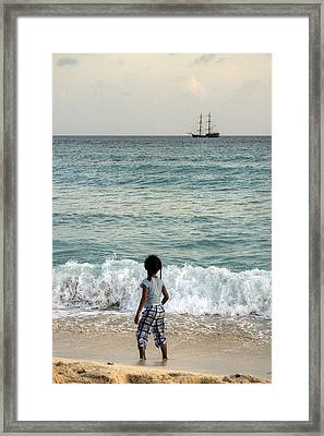 Columbus Ship Framed Print